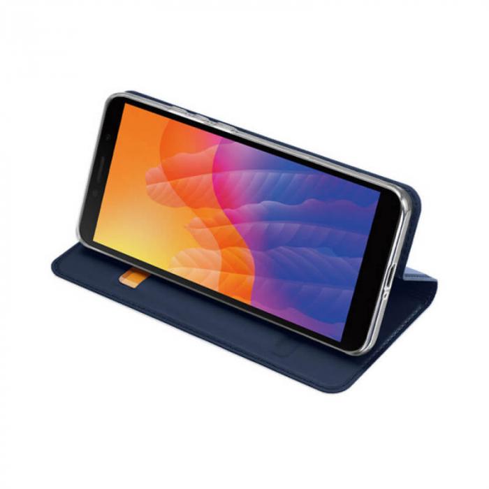 Husa Huawei Y5P 2020 Toc Flip Tip Carte Portofel Bleumarin Piele Eco Premium DuxDucis 2