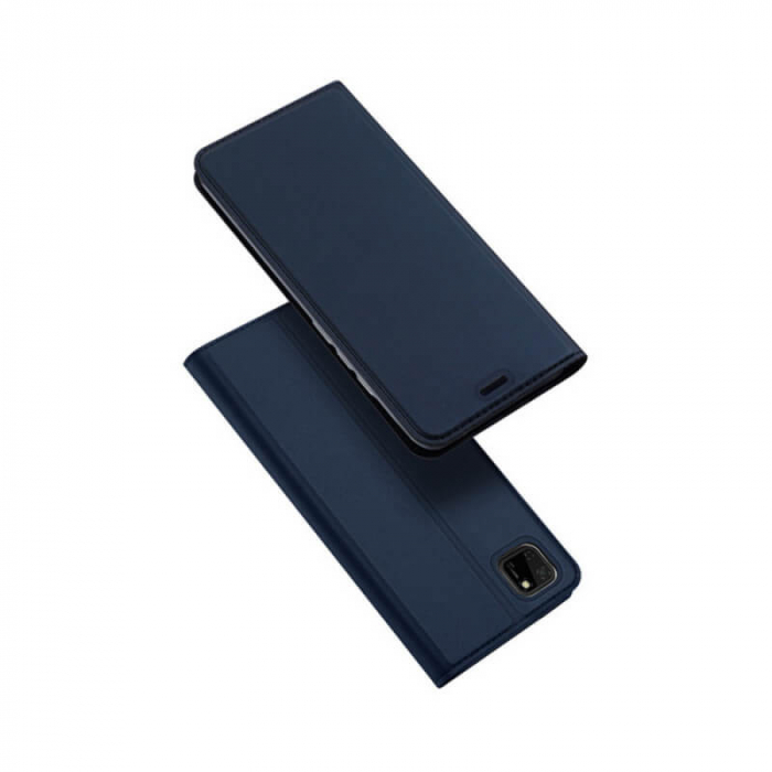 Husa Huawei Y5P 2020 Toc Flip Tip Carte Portofel Bleumarin Piele Eco Premium DuxDucis 0