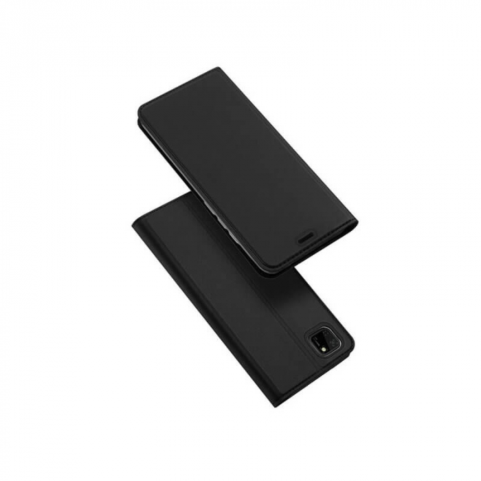 Husa Huawei Y5P 2020 Toc Flip Tip Carte Portofel Negru Piele Eco Premium DuxDucis [0]