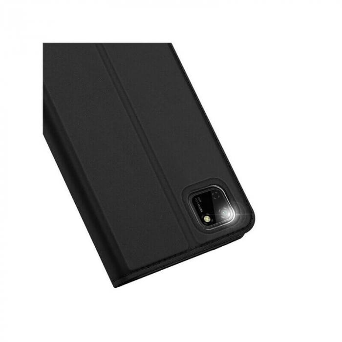Husa Huawei Y5P 2020 Toc Flip Tip Carte Portofel Negru Piele Eco Premium DuxDucis 4