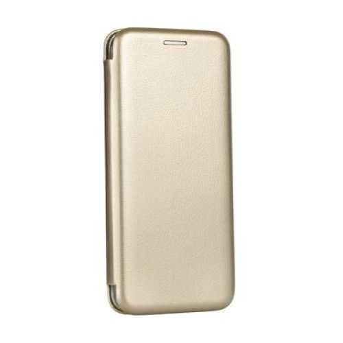 Husa Huawei Y6 2018 Toc Carte Gold Flip Cover din Piele Ecologica Portofel cu Inchidere Magnetica Auriu 0