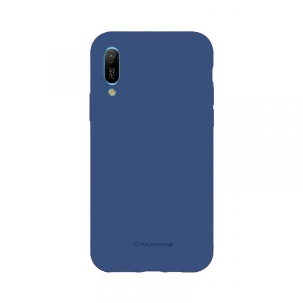 Husa Huawei Y6 2019 Albastru Carcasa Spate Silicon Mat Molan Cano 0