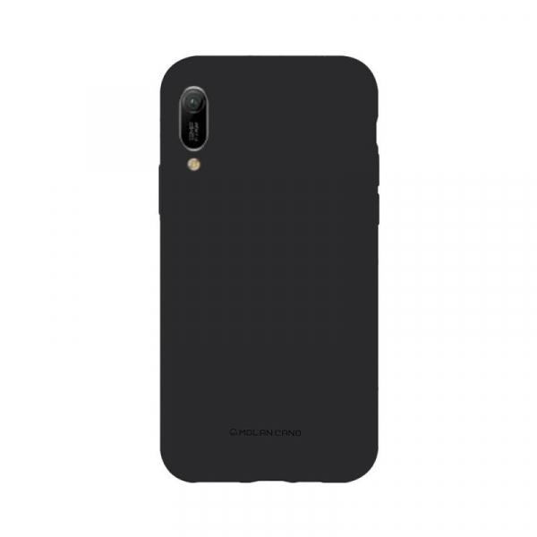 Husa Huawei Y6 2019 Negru Carcasa Spate Silicon Mat Molan Cano [0]