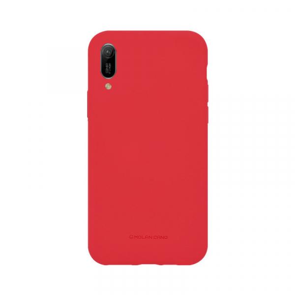 Husa Huawei Y6 2019 Rosu Carcasa Spate Silicon Mat Molan Cano [0]