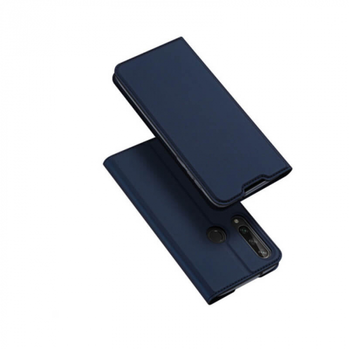 Husa Huawei Y6P 2020 Toc Flip Tip Carte Portofel Bleumarin Piele Eco Premium DuxDucis 0