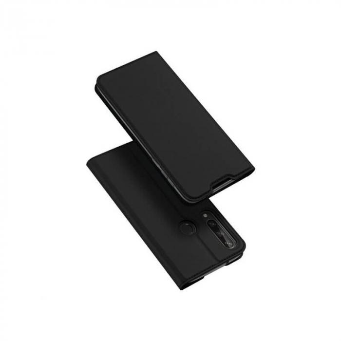 Husa Huawei Y6P 2020 Toc Flip Tip Carte Portofel Negru Piele Eco Premium DuxDucis 0