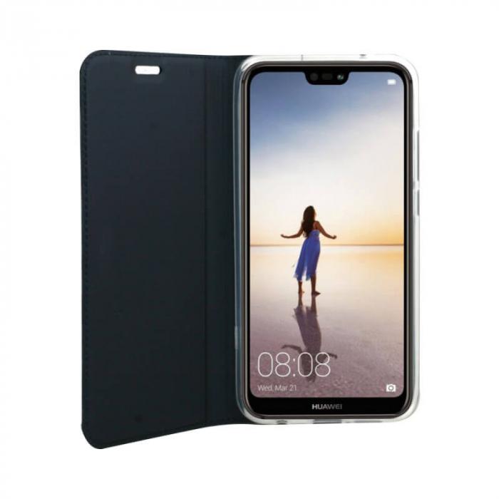 Husa Flip Huawei Y6P Tip Carte Albastru Focus 1