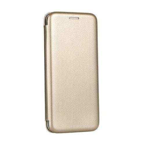 Husa Huawei Y7 2019 Gold Auriu Tip Carte / Toc Flip din Piele Ecologica Portofel cu Inchidere Magnetica [0]