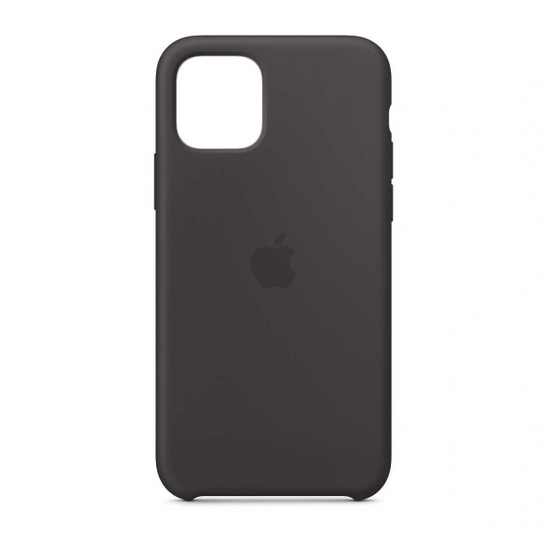 "Husa iPhone 11 2019 - 6.1 "" Negru Carcasa Silicon Premium Slim Logo 0"