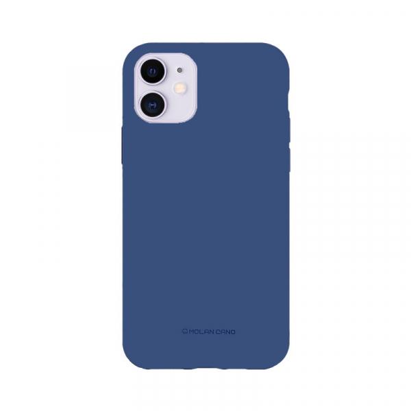 Husa iPhone 11 2019 Albastru Carcasa Spate Silicon Mat Molan Cano 0