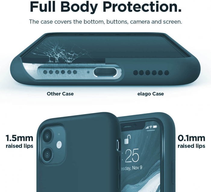Husa iPhone 11 2019 Bleumarin Silicon Slim protectie Premium Carcasa 3