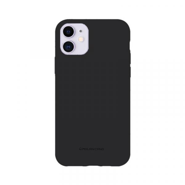 Husa iPhone 11 2019 Negru Carcasa Spate Silicon Mat Molan Cano 0
