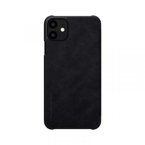 Husa iPhone 11 2019 Negru Toc Flip Nillkin Qin Piele Eco Premium Tip Carte Portofel [1]