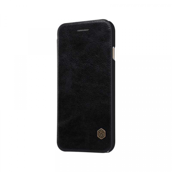 Husa iPhone 11 2019 Negru Toc Flip Nillkin Qin Piele Eco Premium Tip Carte Portofel [3]