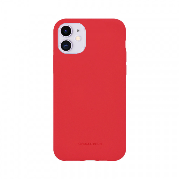 Husa iPhone 11 2019 Rosu Carcasa Spate Silicon Mat Molan Cano 0