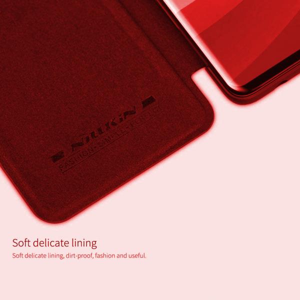 Husa iPhone 11 2019 Rosu Toc Flip Nillkin Qin Piele Eco Premium Tip Carte Portofel 5
