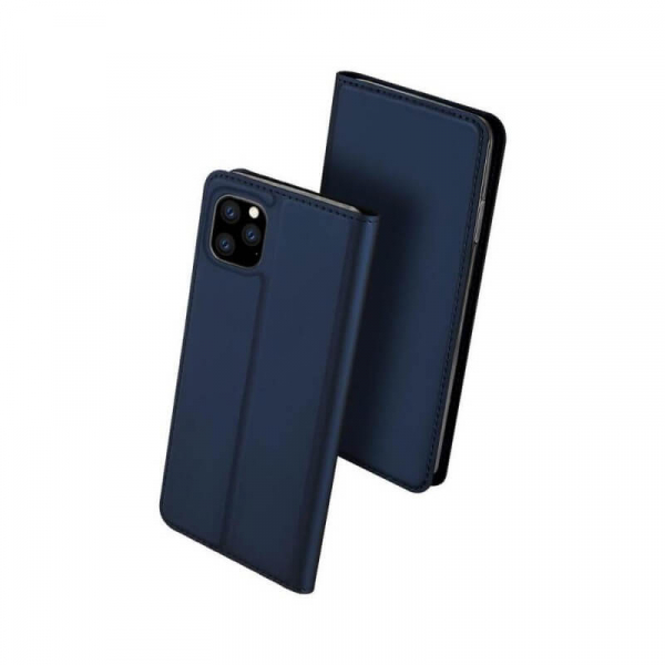 Husa iPhone 11 2019 Toc Flip Tip Carte Portofel Bleumarin Piele Eco Premium DuxDucis 0