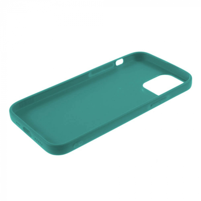 Husa iPhone 11 Dark Green Silicon Slim protectie Carcasa 3