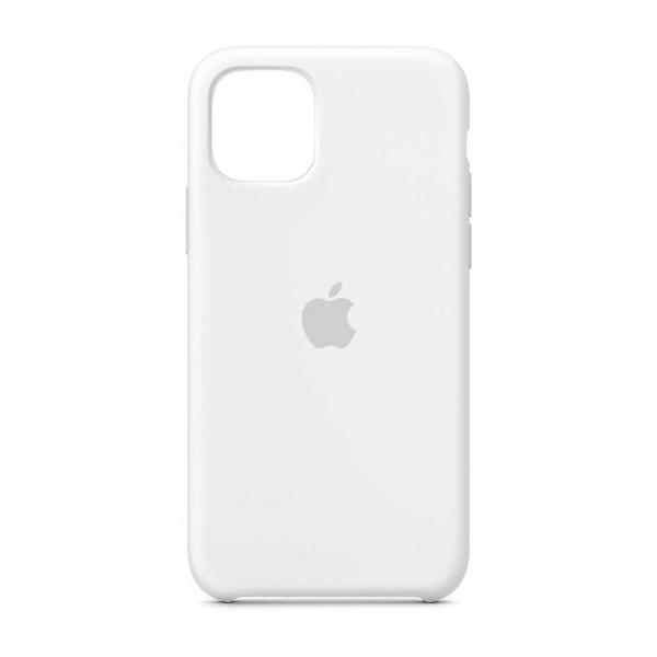 "Husa iPhone 11 Pro 2019 - 5.8 "" Alb Carcasa Silicon Premium Slim Logo 0"