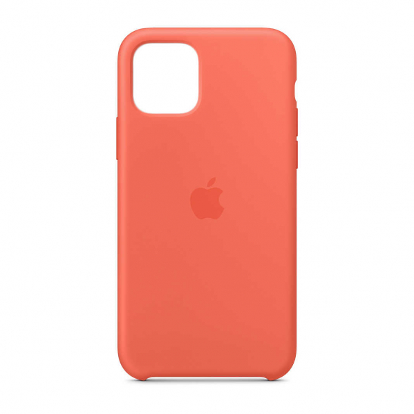 "Husa iPhone 11 Pro 2019 - 5.8 "" Portocaliu Carcasa Silicon Premium Slim Logo 0"