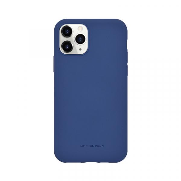 Husa iPhone 11 Pro 2019 Albastru Carcasa Spate Silicon Mat Molan Cano 0