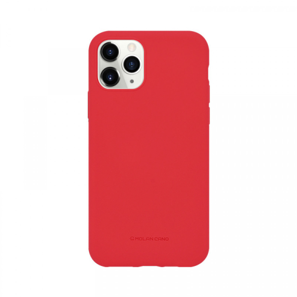 Husa iPhone 11 Pro 2019 Rosu Carcasa Spate Silicon Mat Molan Cano 0