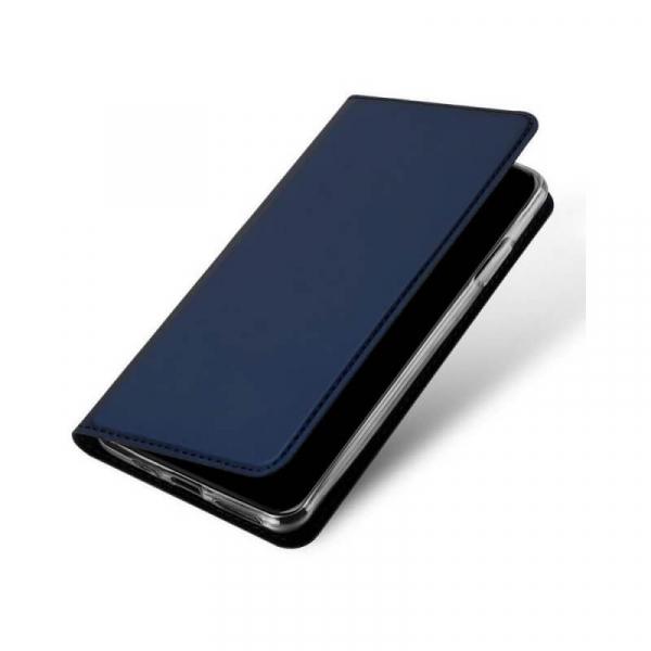 Husa iPhone 11 Pro 2019 Toc Flip Tip Carte Portofel Bleumarin Piele Eco Premium DuxDucis 3