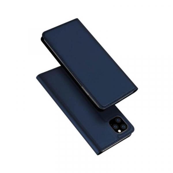 Husa iPhone 11 Pro 2019 Toc Flip Tip Carte Portofel Bleumarin Piele Eco Premium DuxDucis 4