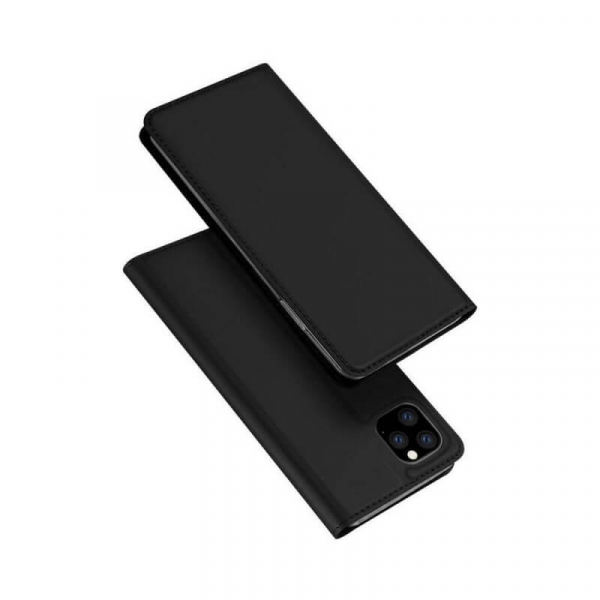 Husa iPhone 11 Pro 2019 Toc Flip Tip Carte Portofel Negru Piele Eco Premium DuxDucis 4