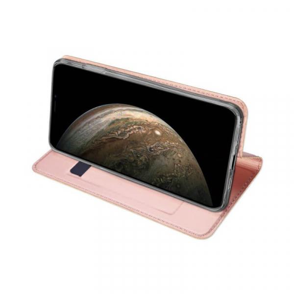 Husa iPhone 11 Pro 2019 Toc Flip Tip Carte Portofel Roz Piele Eco Premium DuxDucis [2]