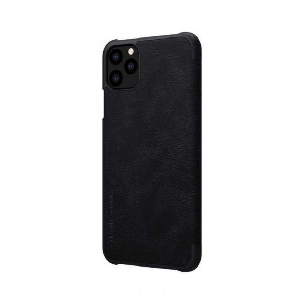 Husa iPhone 11 Pro Max 2019 Negru Toc Flip Nillkin Qin Piele Eco Premium Tip Carte Portofel 5