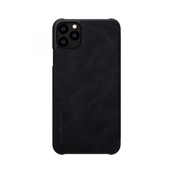 Husa iPhone 11 Pro Max 2019 Negru Toc Flip Nillkin Qin Piele Eco Premium Tip Carte Portofel 2