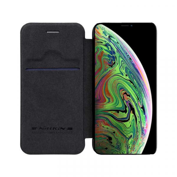 Husa iPhone 11 Pro Max 2019 Negru Toc Flip Nillkin Qin Piele Eco Premium Tip Carte Portofel 3