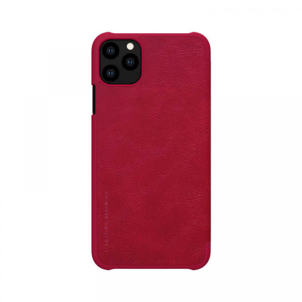 Husa iPhone 11 Pro Max 2019 Rosu Toc Flip Nillkin Qin Piele Eco Premium  Tip Carte Portofel 1
