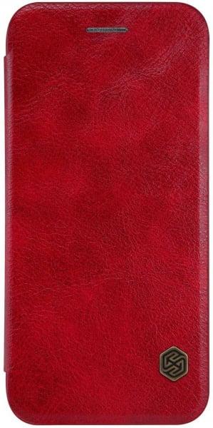Husa iPhone 11 Pro Max 2019 Rosu Toc Flip Nillkin Qin Piele Eco Premium  Tip Carte Portofel 0