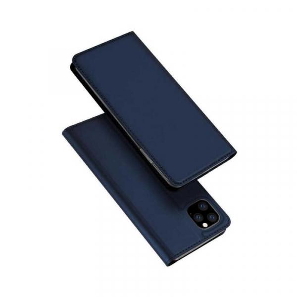 Husa iPhone 11 Pro Max 2019 Toc Flip Tip Carte Portofel Bleumarin Piele Eco Premium DuxDucis [4]