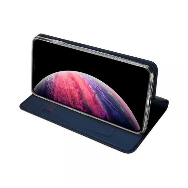 Husa iPhone 11 Pro Max 2019 Toc Flip Tip Carte Portofel Bleumarin Piele Eco Premium DuxDucis [2]
