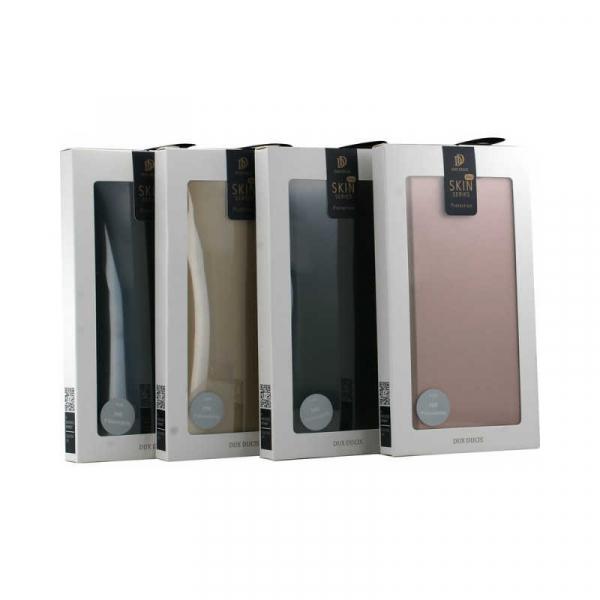 Husa iPhone 11 Pro Max 2019 Toc Flip Tip Carte Portofel Roz Piele Eco Premium DuxDucis 5