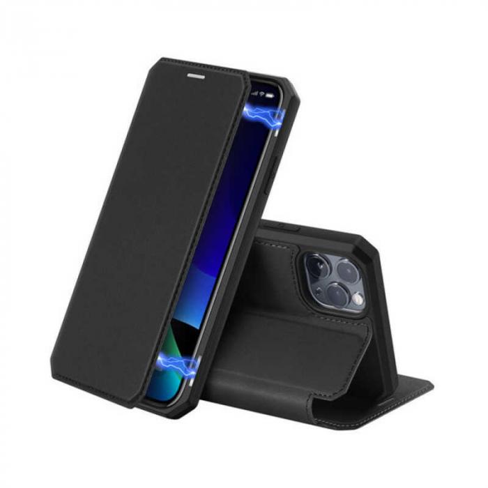 Husa iPhone 11 Pro Max Toc Flip Tip Carte Portofel Negru Piele Eco X-Skin [0]