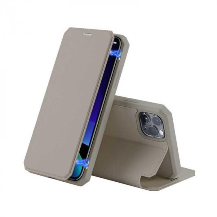 Husa iPhone 11 Pro Toc Flip Tip Carte Portofel Auriu Gold Piele Eco X-Skin 0