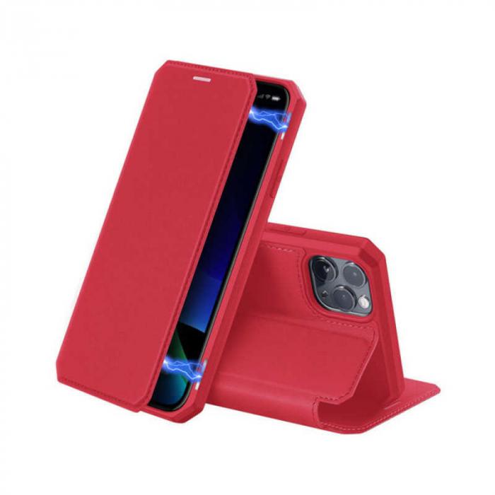 Husa iPhone 11 Pro Toc Flip Tip Carte Portofel Rosu Piele Eco X-Skin 0