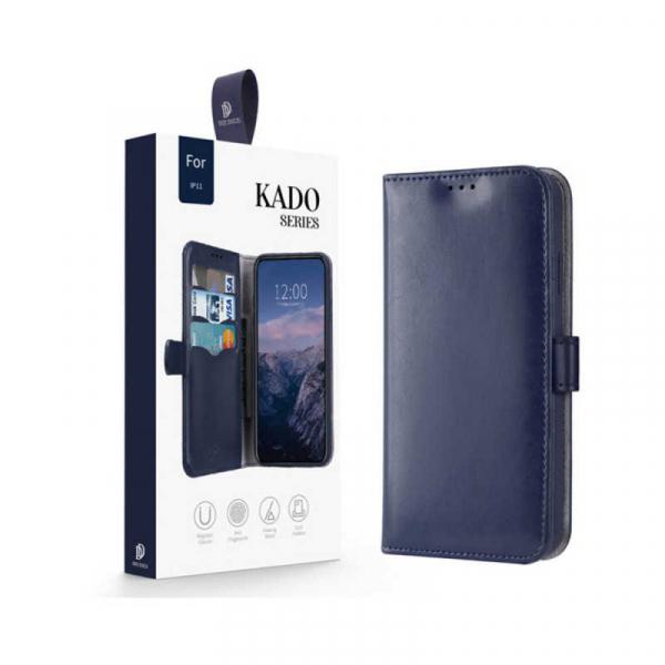 Husa iPhone 11 Toc Flip Tip Carte Portofel Albastru Piele Eco Premium DuxDucis Kado 6