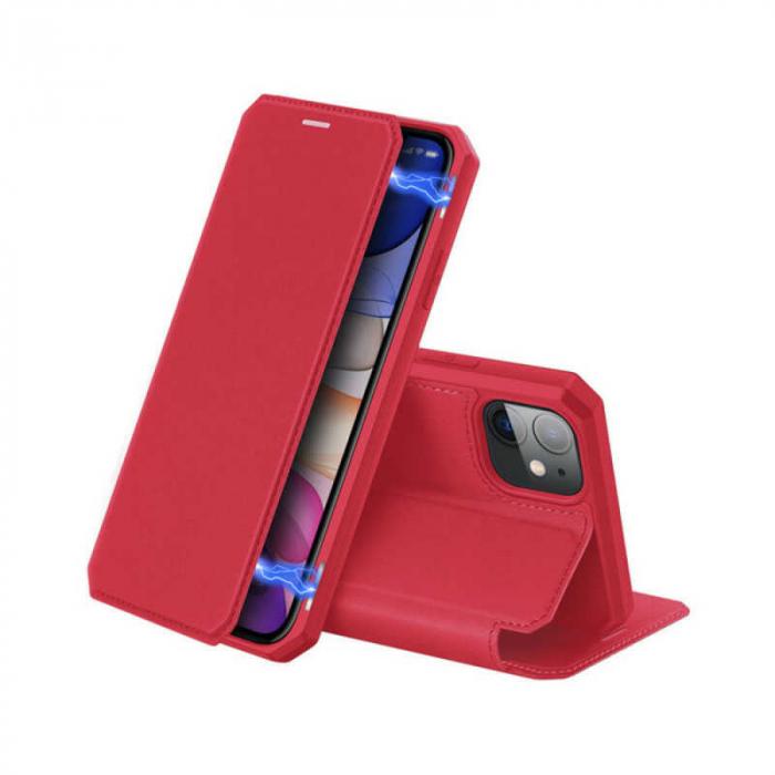 Husa iPhone 11 Toc Flip Tip Carte Portofel Rosu Piele Eco X-Skin 0