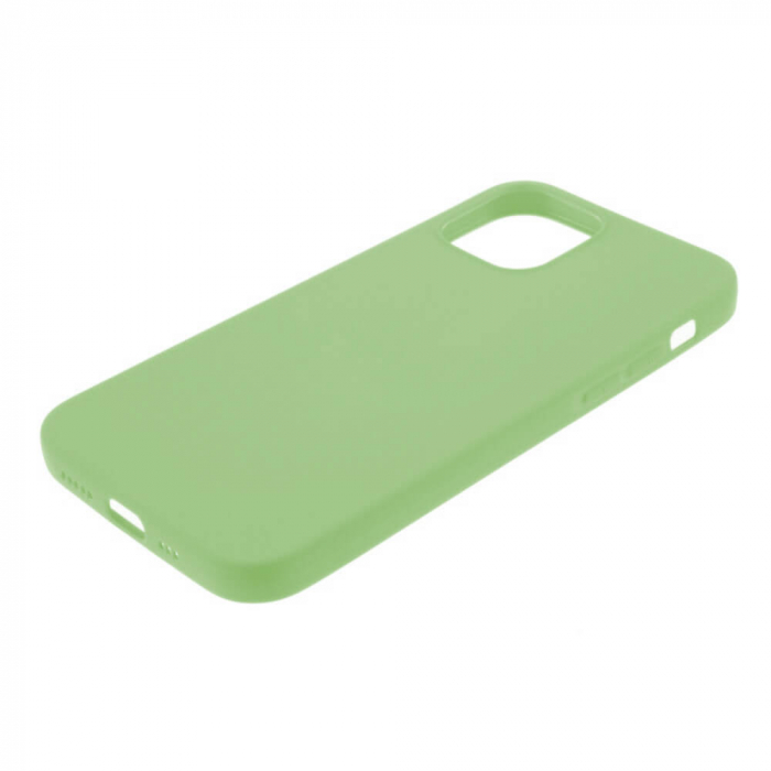Husa iPhone 12 Verde Silicon Slim protectie Carcasa [3]