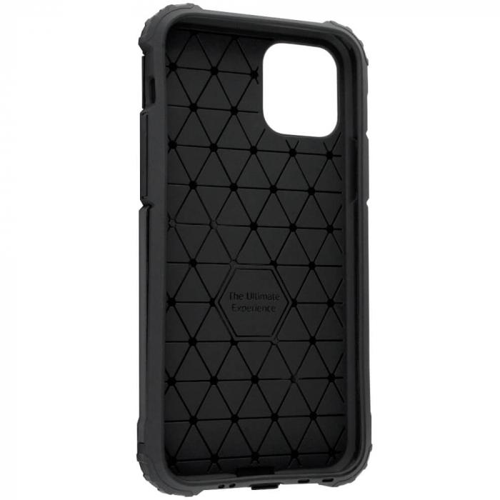 Husa iPhone 12Pro Max Silicon Antisoc Negru Hybrid Armor [5]