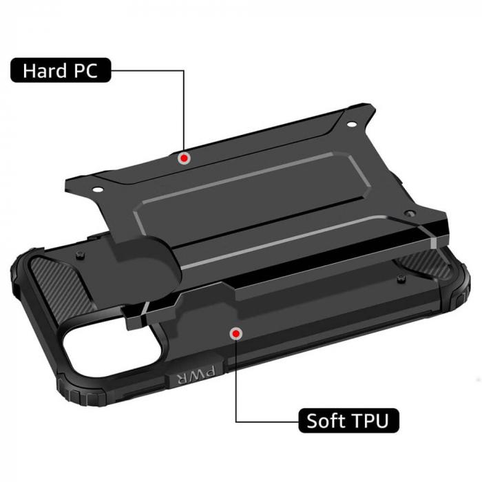 Husa iPhone 12Pro Max Silicon Antisoc Negru Hybrid Armor [2]