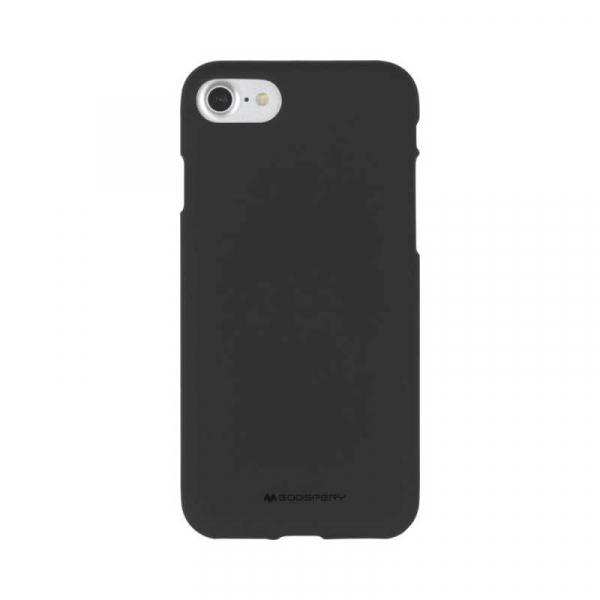 Husa iPhone 6 6S Carcasa Spate Mercury Jelly Soft TPU Rezistent Flexibil Negru 0