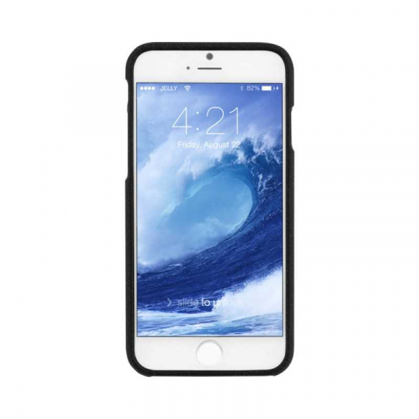 Husa iPhone 6 6S Carcasa Spate Mercury Jelly TPU Rezistent Flexibil Negru 1