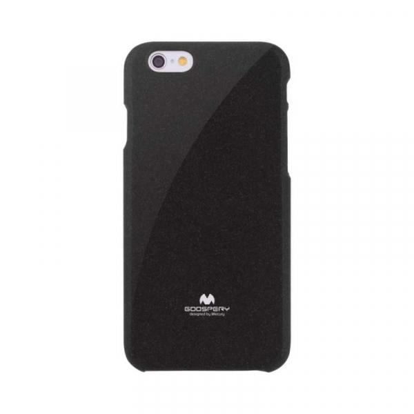 Husa iPhone 6 6S Carcasa Spate Mercury Jelly TPU Rezistent Flexibil Negru 0