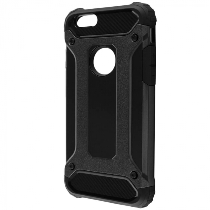 Husa iPhone 6 Plus / 6s Plus Silicon Antisoc Negru Hybrid Armor [1]